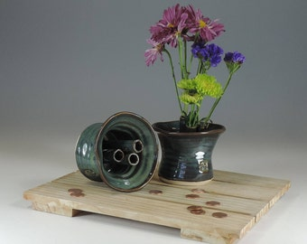 Ikebana Wish Bowl  blue glaze
