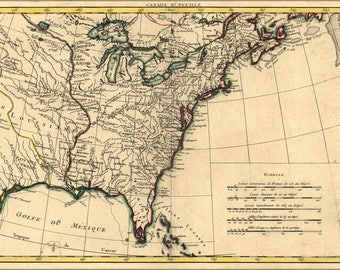 Poster, Many Sizes Available; Map Of North America 1776 American Revolution
