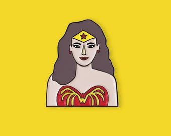 Superheroine Enamel Pin, Superheroine Brooch
