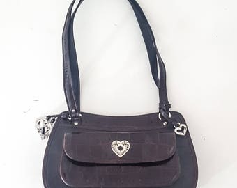 90s VINTAGE BRIGHTON HANDBAG Brighton Purse Brighton Bag Leather Purse Leather Purses for Women Leather Handbags for Women Handbag Brown Bag