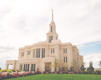 Payson LDS Temple Photograph, Temple Photo, LDS, Digital Download  Photography, Printable Art