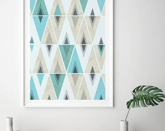 Scandinavian Print, Instant Download, Scandinavian, Modern, Art, Geometric  Print, Geometric Nice Ideas
