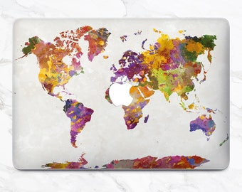 Macbook pro world map decal etsy map macbook air decal macbook new macbook pro 2017 laptop case map macbook mac pro skin gumiabroncs Images