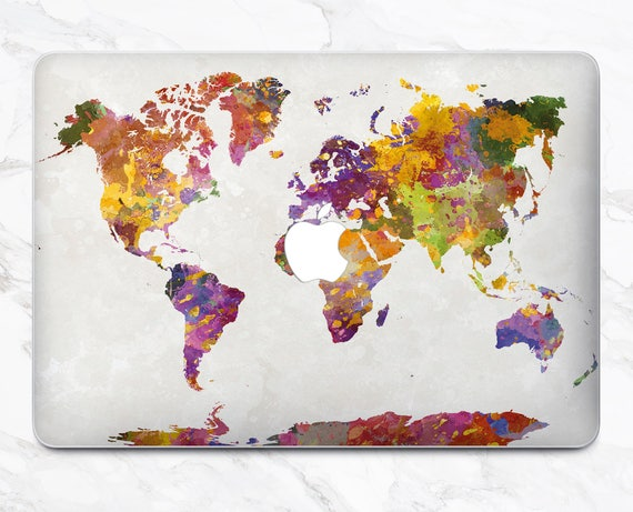 Map macbook air decal macbook new macbook pro 2017 laptop case like this item gumiabroncs Gallery