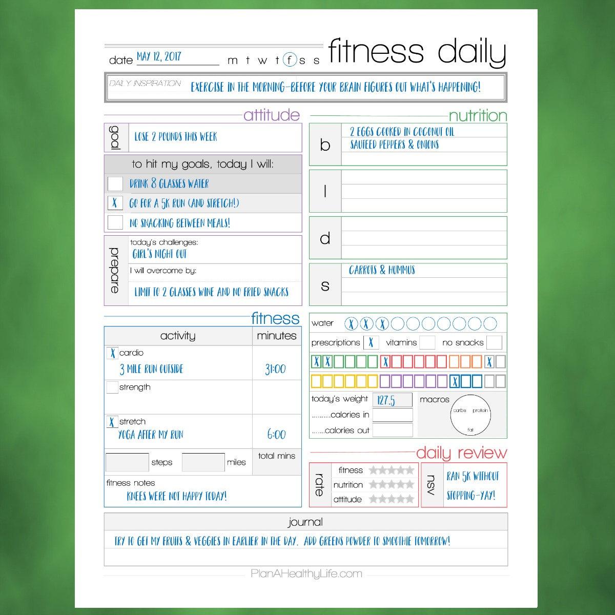 cardio workout logs printable