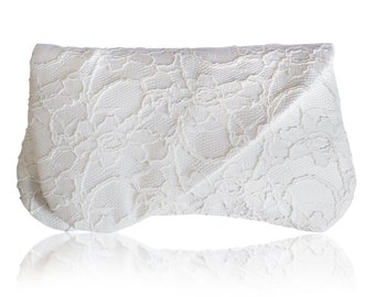 Ivory lace bridal wedding ARDEN clutch purse, bridesmaids, mother of the bride