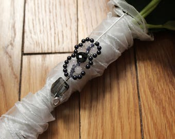 Iolite Bridal Bouquet Pin