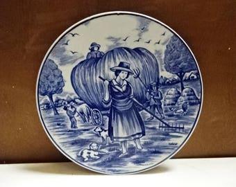 Royal Delfts Blauw/Delft Blue Decorative Collectors Plate/Vintage