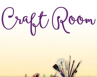 Craftroom Wall Decor Vinyl Decal - Craft Room Wall Words Sticker