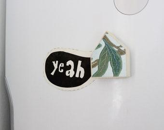 Leaf magnet, Wooden magnet, Green magnet, House magnet, Wedding magnet, Party favor magnet, Custom magnets, Gift for her, Birth magnet