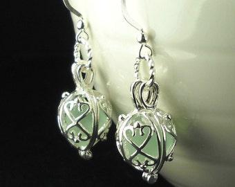 Mermaid Tears Earrings, GENUINE Aqua Sea Glass Earrings In Silver, Beach Jewelry, Mermaid Tears Jewelry, Gift For Her, Eco Fiendly