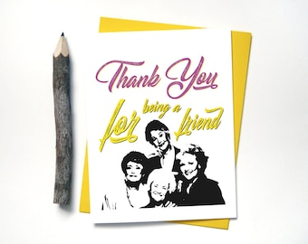 Golden Girls Thank You Card - Funny - Wedding Thank You Cards - Birthday Thank You Card - Baby Shower - Graduation - Thank U Cards - G18