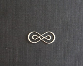 Sterling Silver, Infinity Link, Double Infinity, Inifinity Connector, Infinity Charm, Infinity Pendant, 10x23mm, Fast Shipping from USA