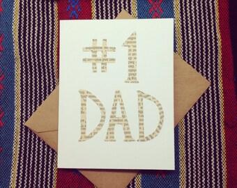 "Cutout ""Number 1 Dad"" Card"