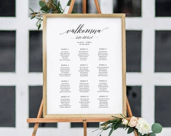 Wedding Seating Chart in Swedish (A3)