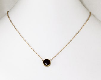 Real Garnet Necklace 18k Gold Vermeil Adjustable Necklace Genuine Garnet Necklace January Birthstone Real Garnet Jewelry BZ-P-105.2-Garnet/g