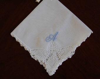 Single Initial Handkerchief