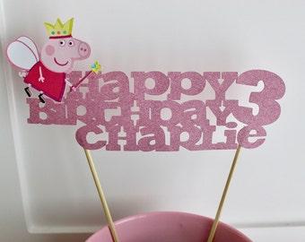 Peppa Pig Cake Topper, Peppa Pig Birthday, Peppa Party, Peppa Pig