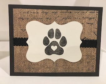 Dog or Cat Pet Sympathy Card- Handmade