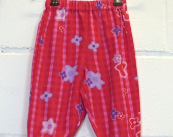 Upcycled Pink Check Toddler Trousers