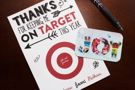 Target Thank You Card Gift Card Holder