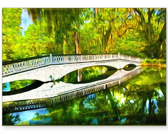 Charleston South Carolina, White Bridge, Handmade Card, All Occasion Card, Photo Greeting Card, 5x7 Blank Card, Fine Art, Photo Note Cards