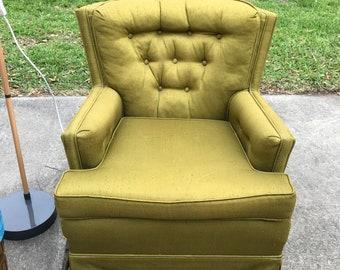 Groovy green mid century arm chair