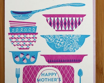 Dishing Out the Love Mother's Day Letterpress Card