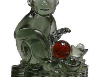 Crystal Glass Liuli Pate-de-verre Monkey Figure Statue vs837S Free Shipping