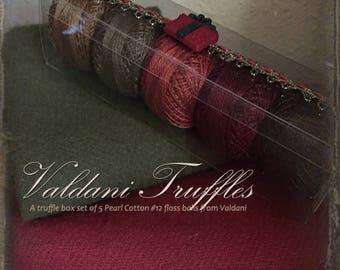 "Valdani Thread: Gift Set/5 Perle Cotton Embroidery Thread Balls - ""Prim Christmas"" Collection"