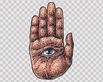 Decal Stickers Hamsa Defense Against Evil Eye 13316