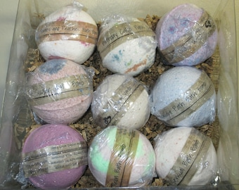 Large Assorted Bath Bombs Gift Set, Many Scents to Choose, Bath Bomb Set, Bath Bomb Gift, Spa Gift, Bath Gift, Variety Bath Bomb Assortment