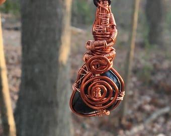 Wire Wrapped Black Tourmaline
