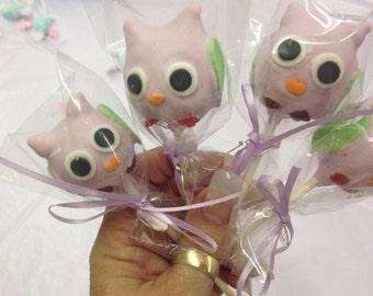 Owl Baby Shower 24 Cake Pops