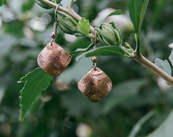 Copper. Handmade Earrings