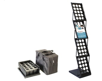 Polmart Magazine / Catalog  /Literature Display Rack for Trade Show / Office / Retail Store 361E