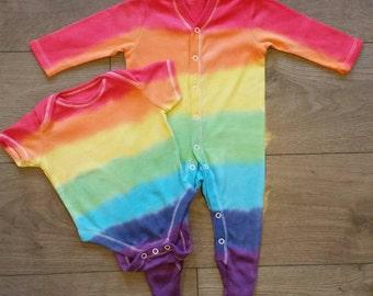 Rainbow baby sleepsuit and vest set Newborn