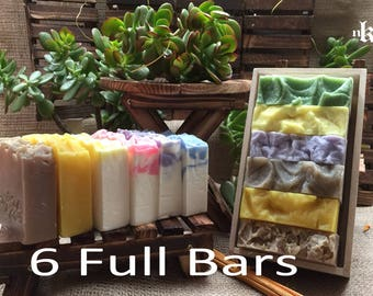 Soap Gift Set. 6 Pack Soap. Natural Handmade Soap. Cold Process Soap. Mix And Match Soap. Your Choice Soap. Soap Sample Pack.