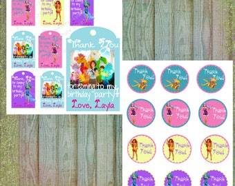 Lego Elves Favor Tags, Free Birthday Sign Included