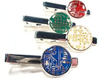 Circuit Board Tie Clip - Men's Tie Clip - Birthday Gift - Men's Gift - Gift For Husband - Techie Tie Clip - Computer Geek Gift - Techie.