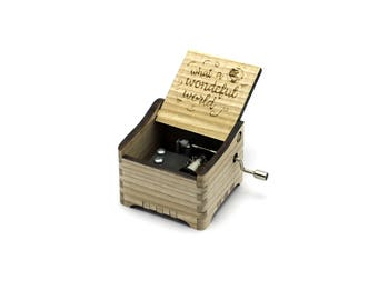 What a Wonderful World - Louis Armstrong + Your Engraving on the music box