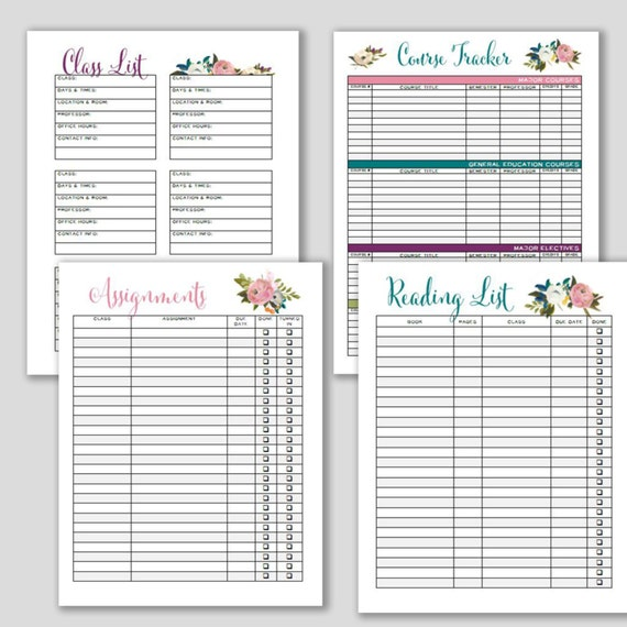 College Student Planner 2017-18 Weekly Planner And Printable