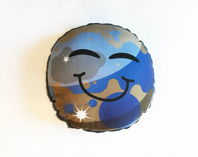 "Planet pillow- Space theme kids decor- Pluto 10"" pillow"