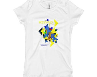 Girl's T-Shirt  Designed by REWiND.™ L&T, LLC. ™ All Rights Reserved.