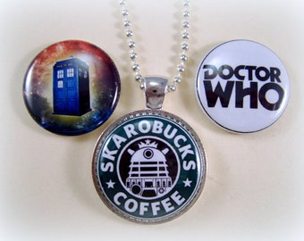 Magnetic Jewelry, Dr. Who Necklace, Gift for Her, Gift for Whovian