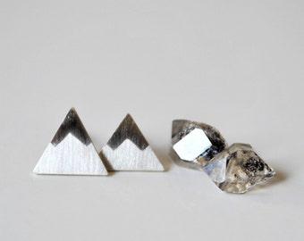 Mountain Post Earrings - Peaks Sterling Silver Stud Earrings