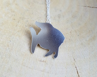 Sterling Silver Fish Necklace Pendant Fish Gift Fish Jewellery
