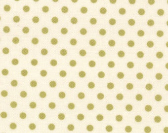 Odds & Ends - Polka Dot Hankie in Vintage Leaf by Julie Comstock/ Cosmo Cricket for Moda Fabrics