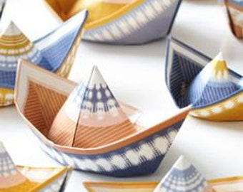 Paper Boats to Make - party supplies