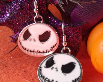 Skeleton Earrings,Jack-O Lantern,Halloween,Fall,Holidays,Cosplay,Holiday Decor,Holiday Jewelry,Creepy Skeleton